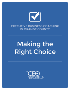 executive business coaching in orange county