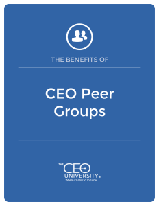 CEO Peer Groups